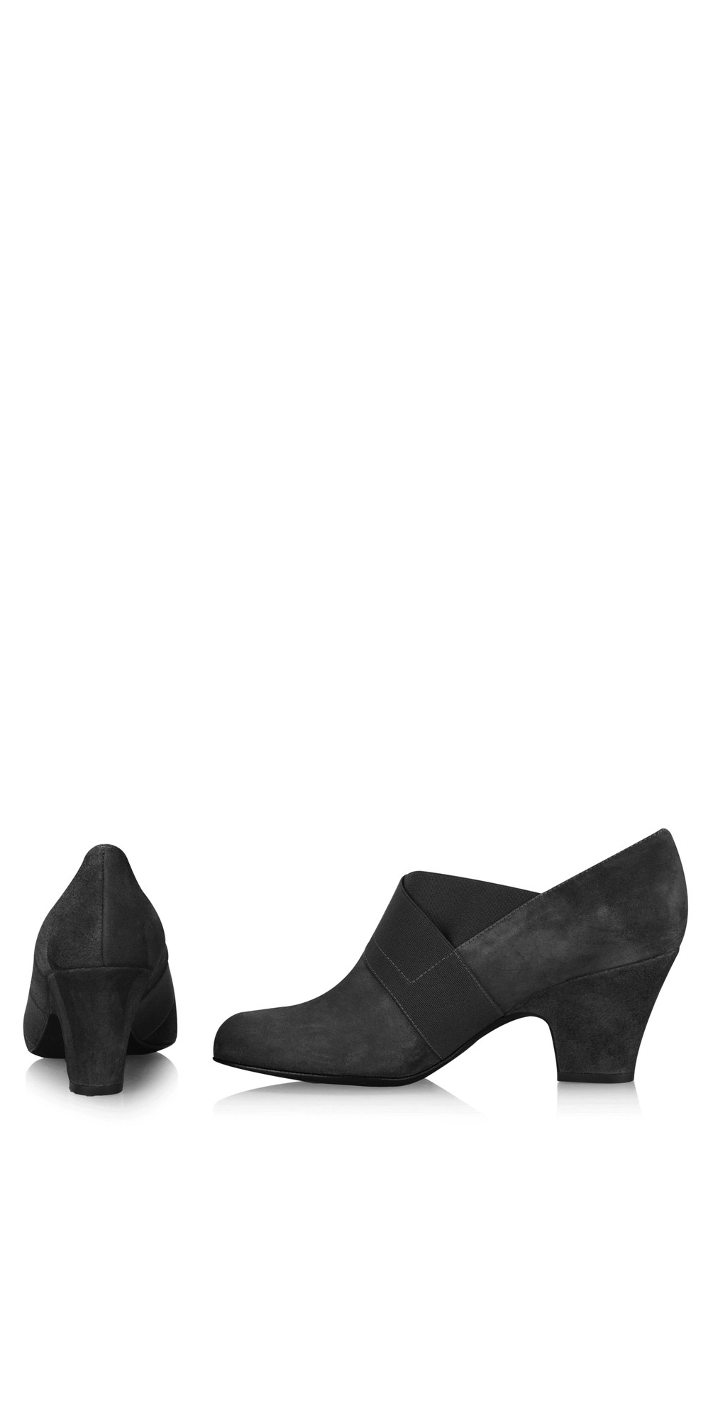 Bepra Black Suede Crossover Elastic Shoe main image