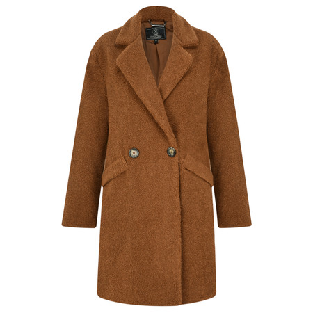 RINO AND PELLE Teddy Fur Oversize Coat - Orange