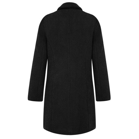 RINO AND PELLE Teddy Fur Oversize Coat - Black