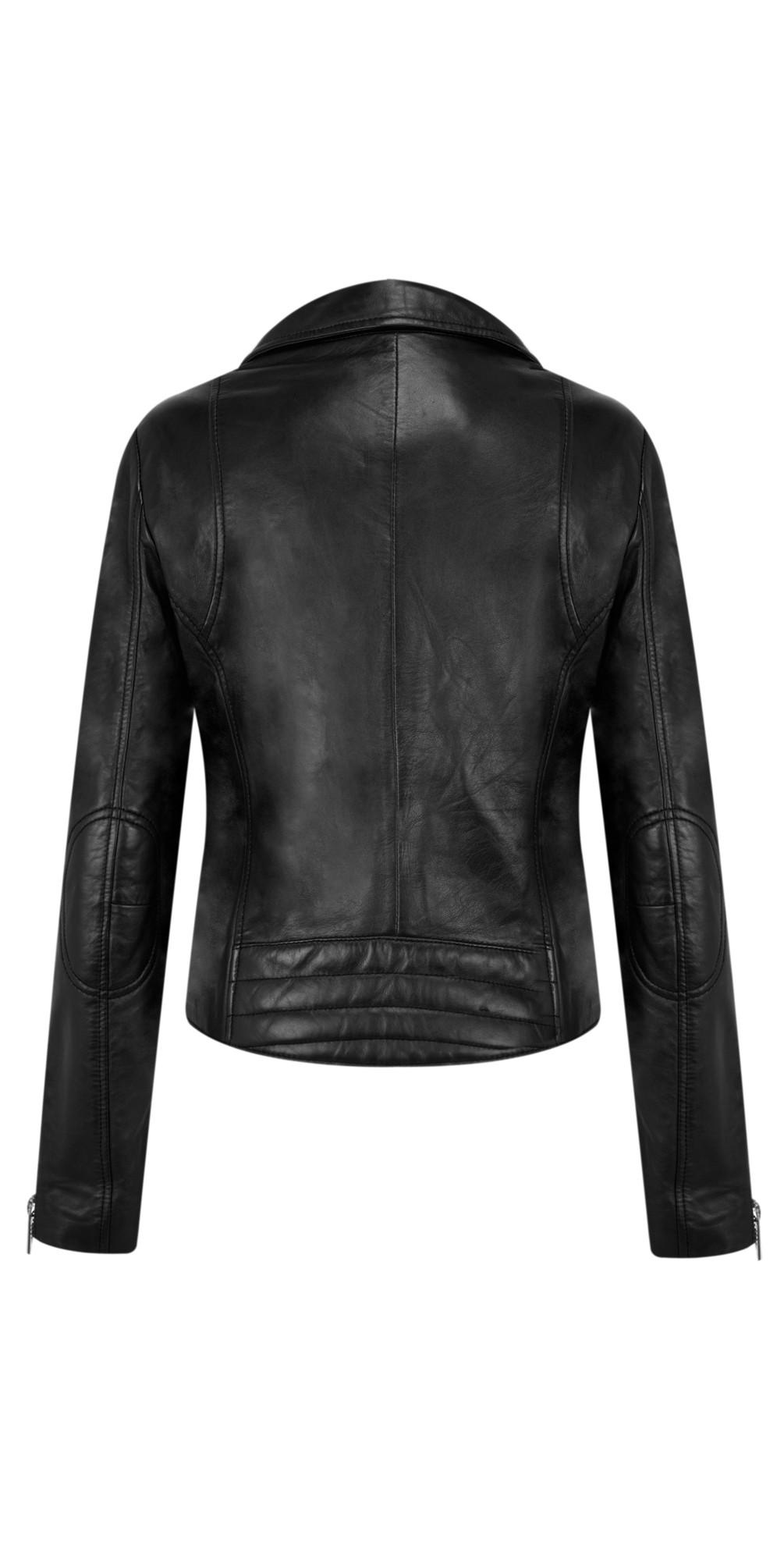 Ghost Bugatti Biker Style Leather Jacket main image
