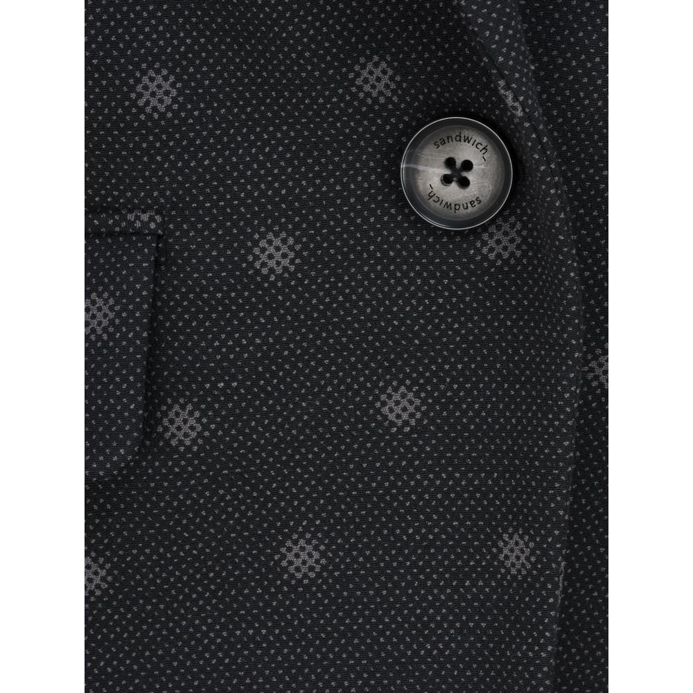 Sandwich Clothing Dot Jacquard Jacket Black