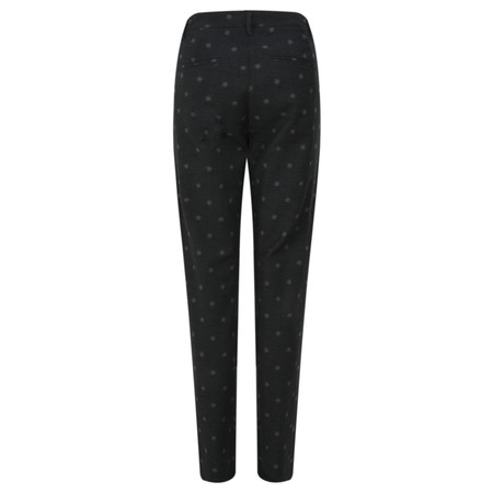Sandwich Clothing Dotted Jacquard Stretch Trouser - Black