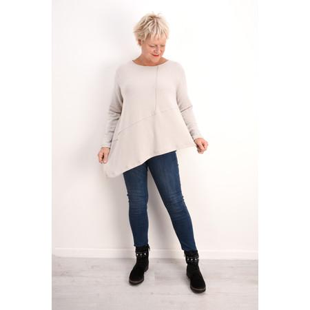 Mama B Pietra Asymmetric Hem Knit Top - Beige