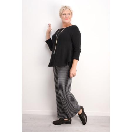 Mama B Striped Knit Brema Trouser - Grey