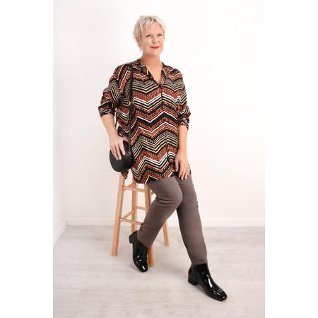 Masai Clothing Itsi Zig- Zag blouse - Orange