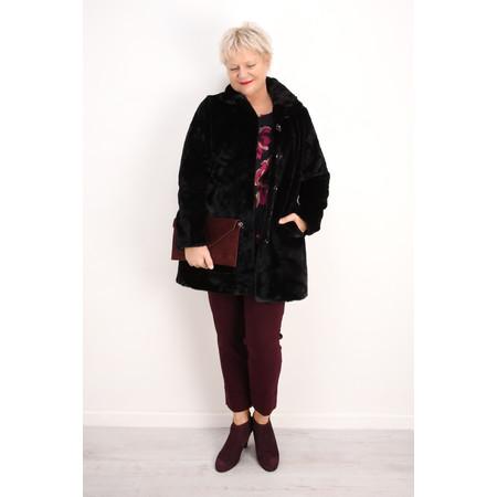 RINO AND PELLE Nonna Faux Fur Coat - Black