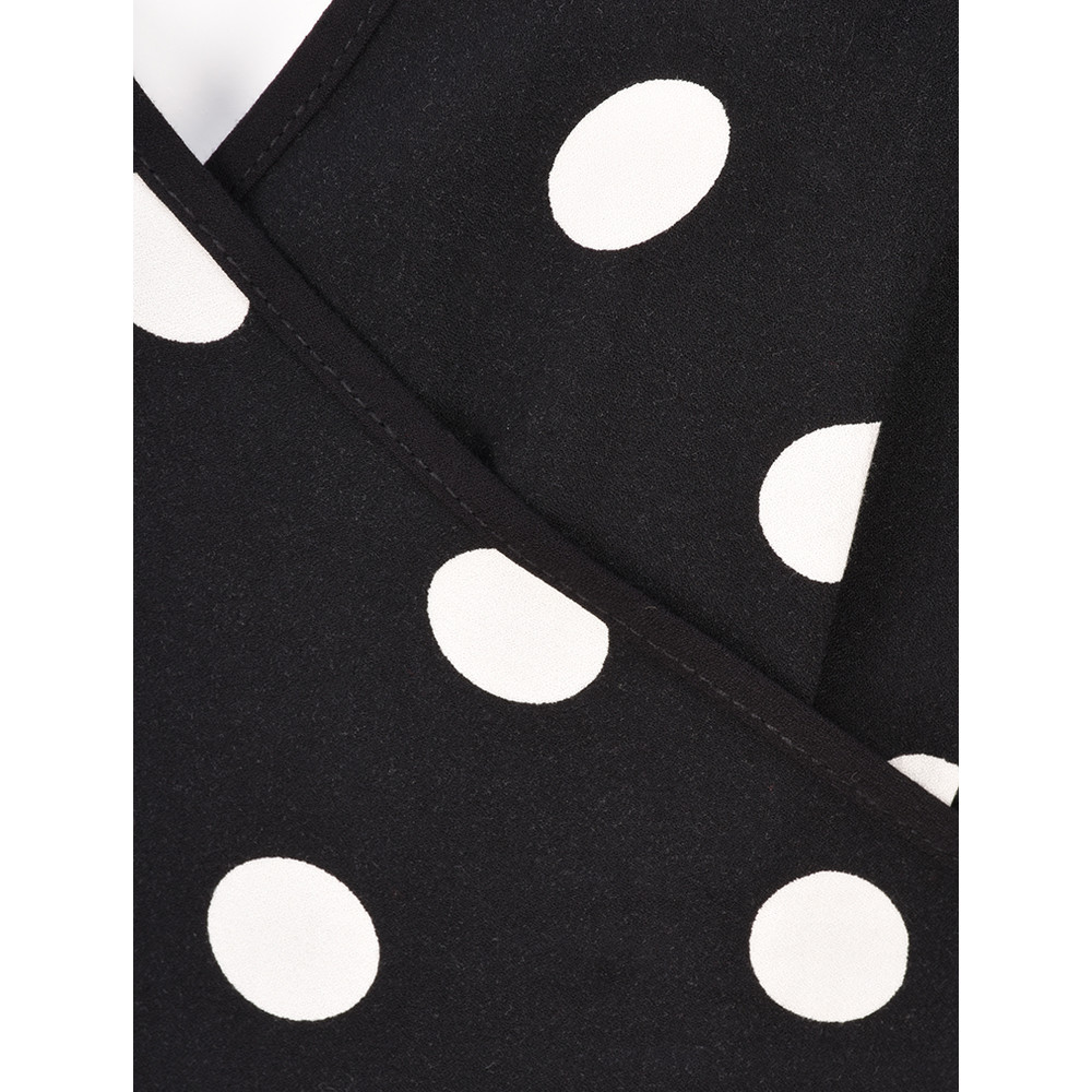 Sandwich Clothing Polka Dot Wrap Dress Black