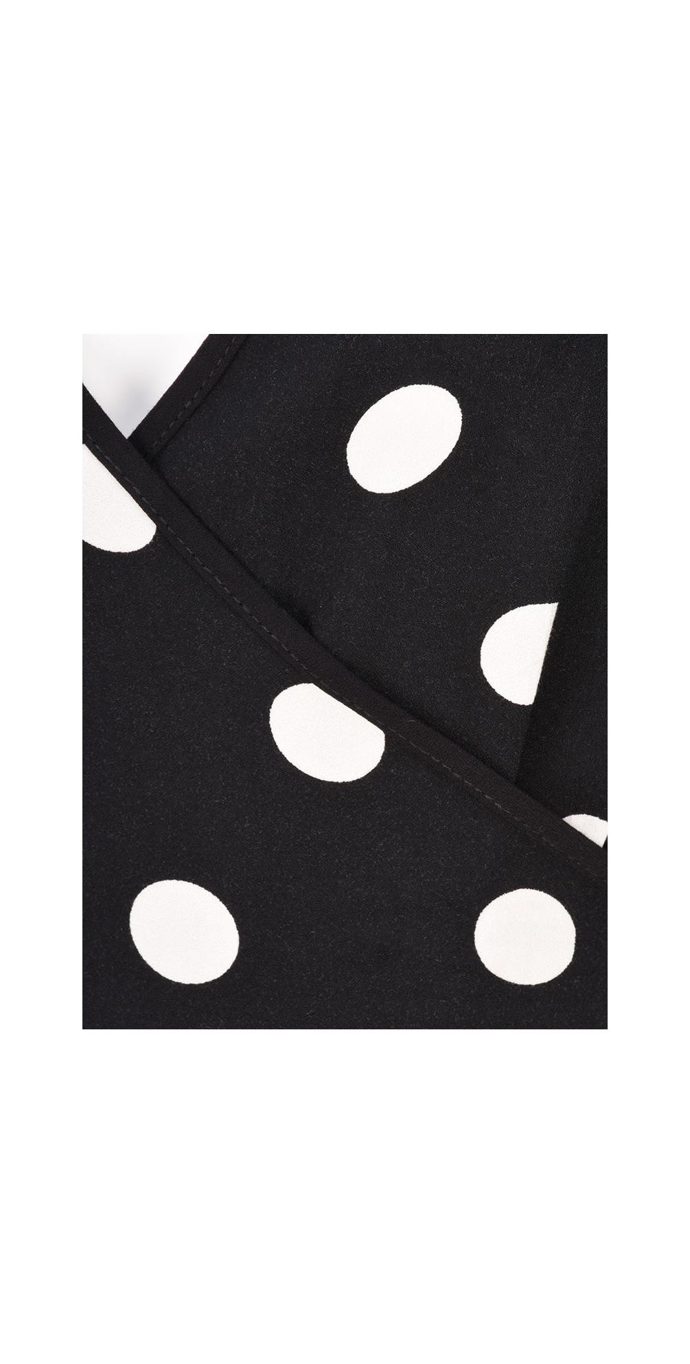 Polka Dot Wrap Dress main image