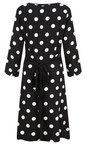 Sandwich Clothing Black  Polka Dot Wrap Dress