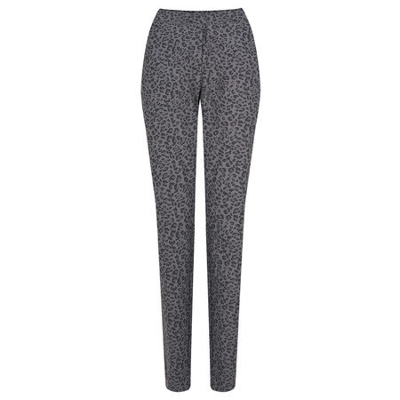 Sandwich Clothing Leopard Print Stretch Trousers - Grey