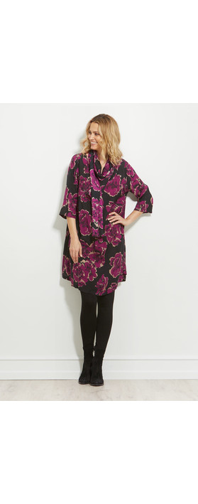 Masai Clothing Nita Floral Dress Claret Org
