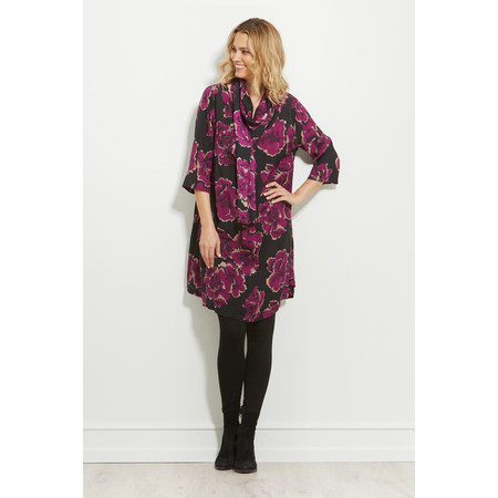 Masai Clothing Nita Floral Dress - Purple