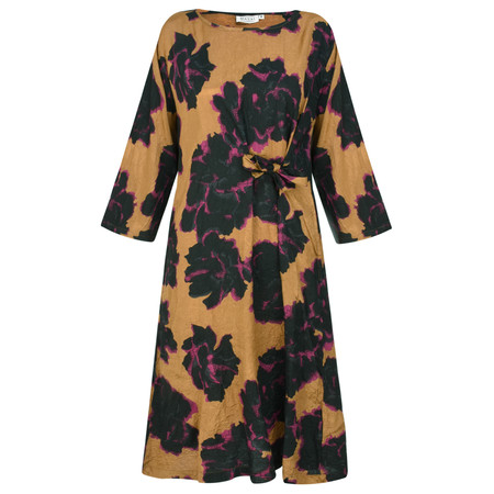 Masai Clothing Graphic Floral Nonie Dress - Brown