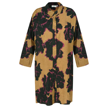 Masai Clothing Indrassi Graphic Floral Blouse - Brown