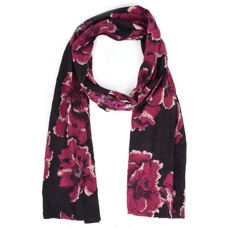 Masai Clothing Floral Berry Along Scarf - Purple