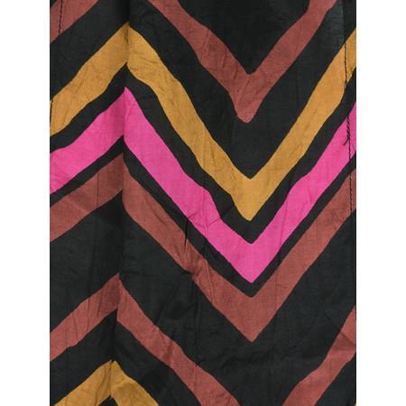 Masai Clothing Along Chevron Print Scarf - Brown