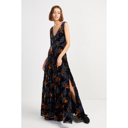 French Connection Aventine Velvet Maxi Dress - Blue
