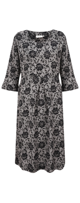 Masai Clothing Nunni Floral Print Dress Black