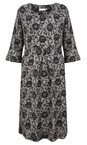 Masai Clothing Black Nunni Floral Print Dress