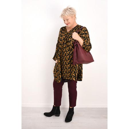 Masai Clothing Godiva Geometric Tunic - Brown