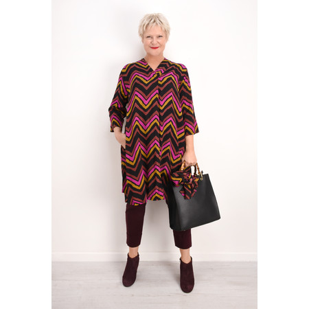 Masai Clothing Nita Chevron Dress - Brown