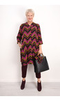 Masai Clothing Ginger Org Nita Chevron Dress