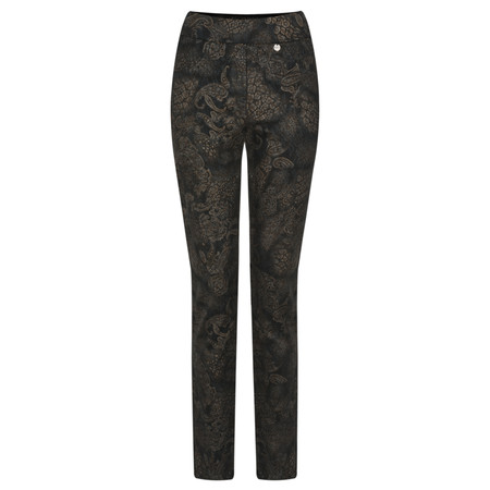 Robell  Rose Animal Paisley Slimfit Trouser - Blue