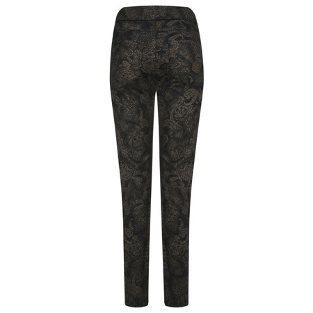 Robell Trousers Rose Paisley Party Trouser - Blue