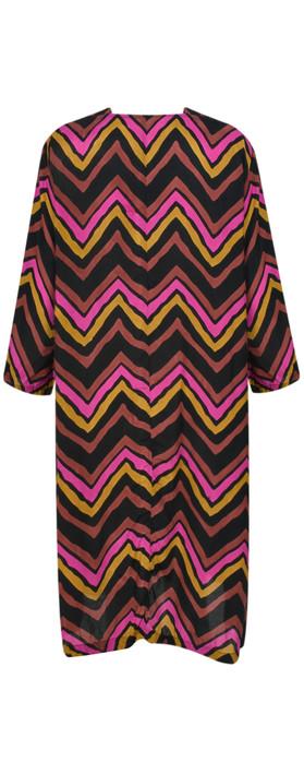 Masai Clothing Nita Chevron Dress Ginger Org