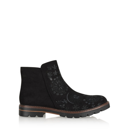 Marco Tozzi Ingrid Embroidered Chelsea Boot - Black
