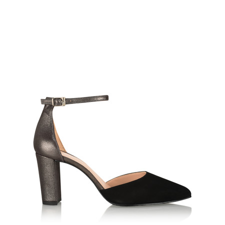 Gemini Label  Carrie Ankle Strap Shoe - Black