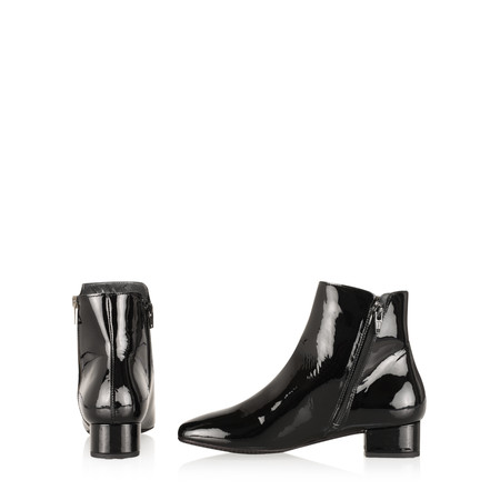 Gemini Label Pedro Patent Shoe Boot  - Black