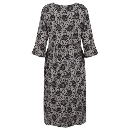 Masai Clothing Nunni Floral Print Dress - Black