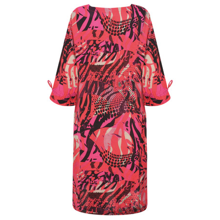 Masai Clothing Abstract Print Nylla Dress - Pink