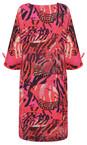 Masai Clothing Pink Org Abstract Print Nylla Dress