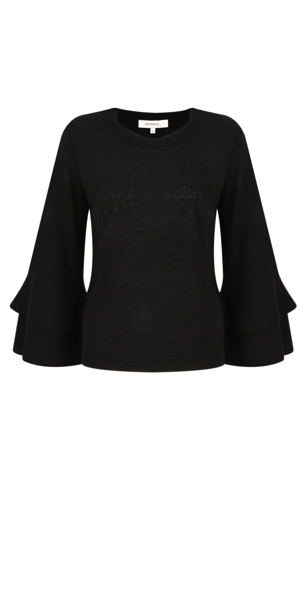 Flared Ruffle Sleeve Knit main image