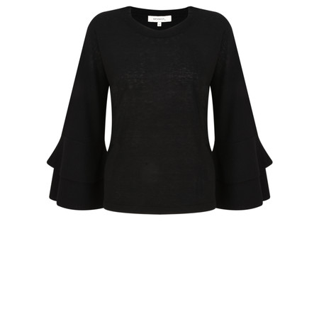 Sandwich Clothing Flared Ruffle Sleeve Knit - Black