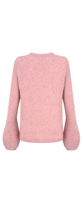 Sandwich Clothing Bell Sleeve Wool Knit Jumper Blush