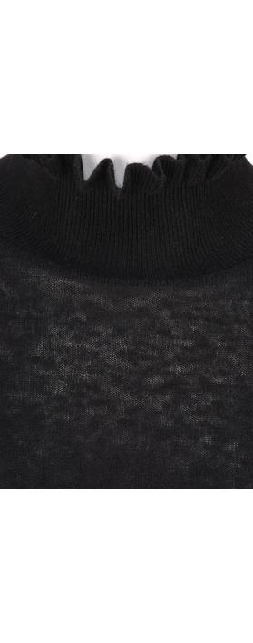 Sandwich Clothing Ruffle Neck Jumper Black