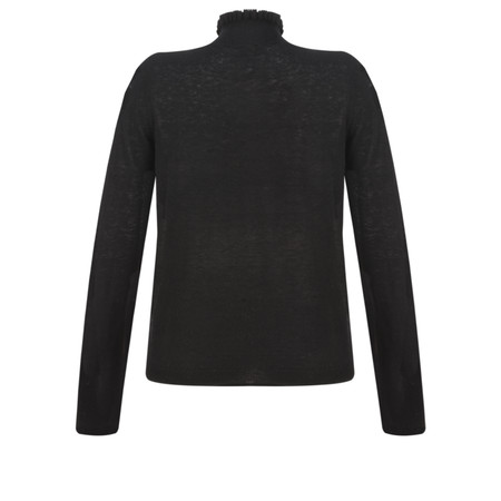 Sandwich Clothing Ruffle Neck Jumper - Black