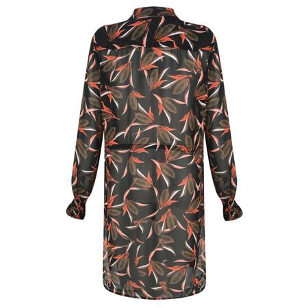 Sandwich Clothing Long Fiery Floral Print Blouse - Green