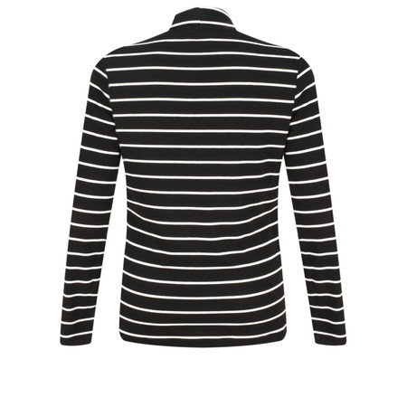 Sandwich Clothing Striped Print Roll Neck Top - Black