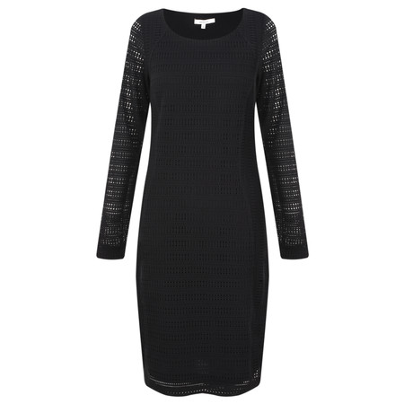 Sandwich Clothing Crochet Lace Jersey Dress - Black