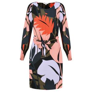 Sandwich Clothing Bold Leaf Print Dress