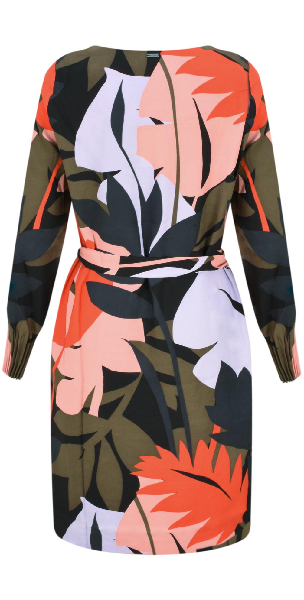 Bold Leaf Print Dress main image