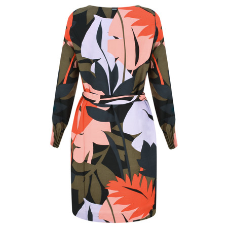 Sandwich Clothing Bold Leaf Print Dress - Green