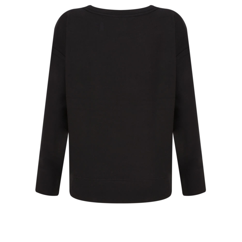 Sandwich Clothing Sequin French Terry Top Black