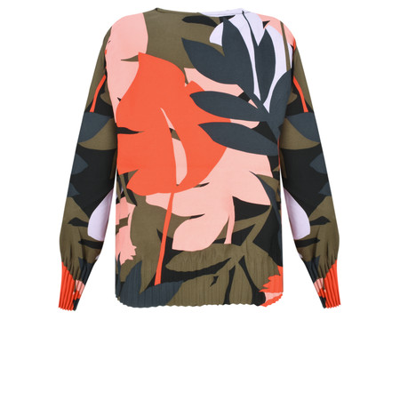 Sandwich Clothing Bold Leaf Print Blouse - Green