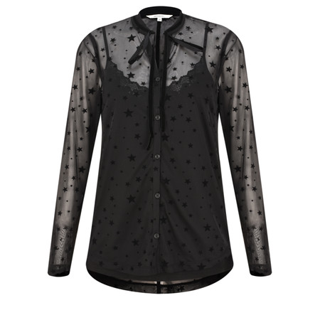 Sandwich Outlet  Fine Net Star Blouse - Black