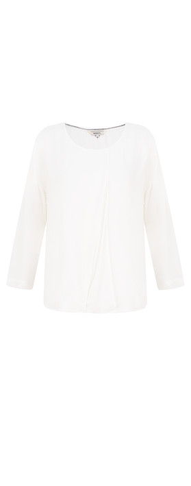 Sandwich Clothing Woven Drape Blouse Whisper White